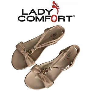 Lady Comfort Kailey Sandal Rose Gold Tone